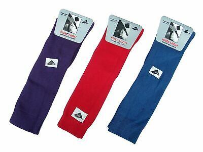 4 Pairs Girls School Knee High Socks 80% Cotton Red Blue Purple