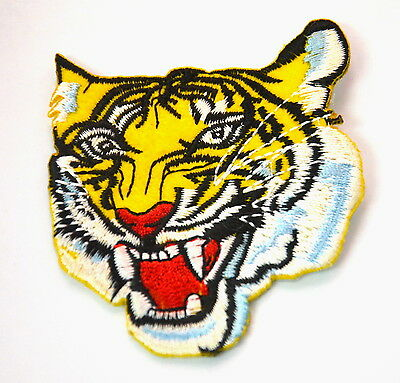 91a0d46f058de BENGAL TIGER HEAD ROAR TATTOO Embroidered Sew Iron On Cloth Patch Badge  APPLIQUE