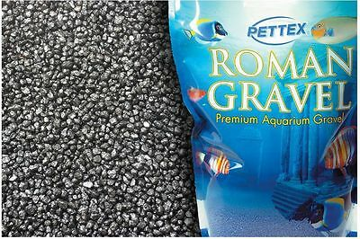Pettex Roman Fish Tank Aquarium Gravel Jet Black 2kg