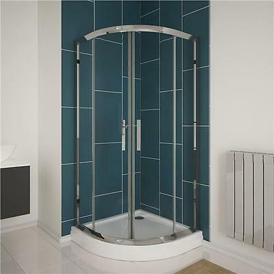 6mm Glass 700mm Quadrant Walk In Shower Enclosure Corner Cubicle Door High Tray