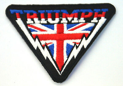 TRIUMPH BRITISH MOTORCYCLE  Embroidered Iron Sew On Cloth Patch Badge APPLIQUE