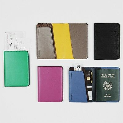 Korea AS Leather WEEKADE LET'S Passport Ticket ID Sheld Case Holder Cover GREEN