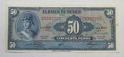 Mexico 50 Pesos Note - 1967