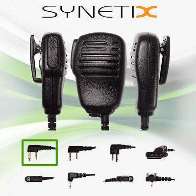 Icom Deluxe Speaker Mic With Earpiece Socket Kevlar Lined Cable (Synetix)