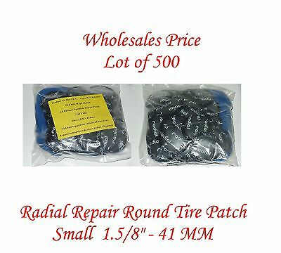 "500 Pieces Radial Repair Round Tire Patch Small  1.5/8"" - 41 MM Superior Quality"