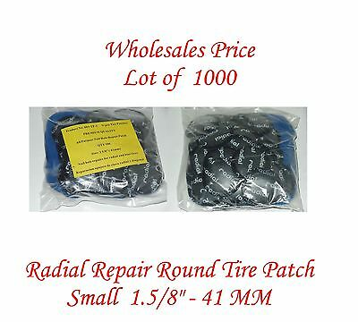 "1000 Pieces Radial Repair Round Tire Patch Small  1.5/8""- 41 MM Superior Quality"