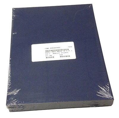 """100p 8.5x11"""" Presentation Covers 12pt leather finish paper Report Cover, Navy"""