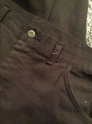 Vintage 1960's Lee Riders Brown Pants Trousers Sanforized Union Made 38x32