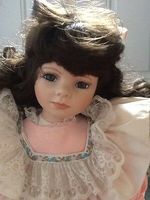 Doll by Heritage Mint Fine Porcelain America's Doll Blond Hair Made in Taiwan