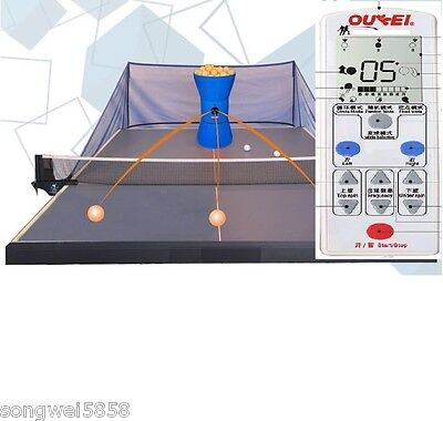 OUKEI Table Tennis Robot W/Wireless Remote Control & 2 Throwing Wheels AUTOCoach