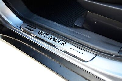 S/S Door Sill Panel Scuff Plate Kick Step Protect for Mitsubishi Outlander ZJ ZK