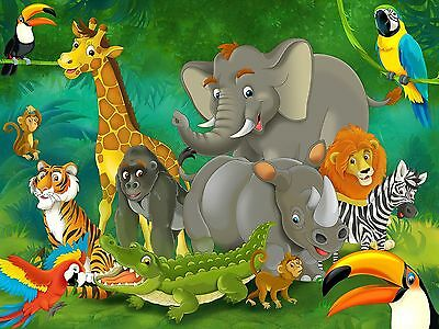 Jungle animals photo wall paper - jungle and animals mural - XXL jungle wall ...