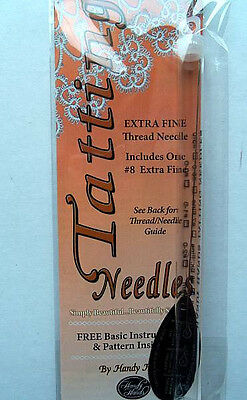 Tatting Needle  Size 8-0  Includes Basic Instructions & Pattern