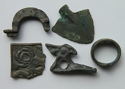 Celtic Period Bronze Lot x 5 Bronze Artifacts 400-100 BC