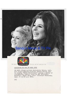 BERNADETTE PETERS, BOBBIE GENTRY Terrific ORIGINAL TV Photo KRAFT MUSIC HALL