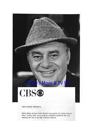 MARTIN BALSAM Terrific Original TV Photo ARCHIE BUNKER'S PLACE