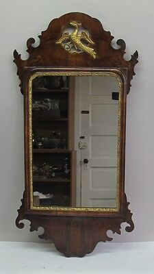 Fine 18th C. ENGLISH GEORGE III MAHOGANY MIRROR w/ Eagle  c. 1770  antique