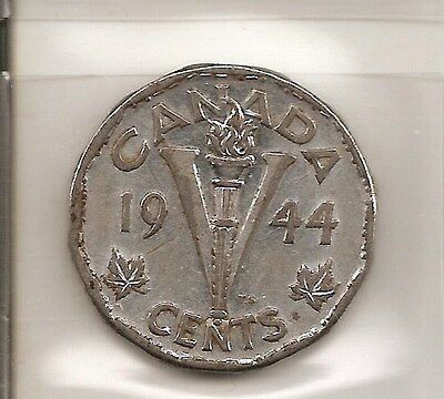 SCARCE 1944 Canada/Canadian 5 Cent Coin