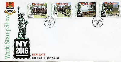 Kiribati 2016 FDC New York Stamp Show NY2016 4v Set Cover Independence Stamps