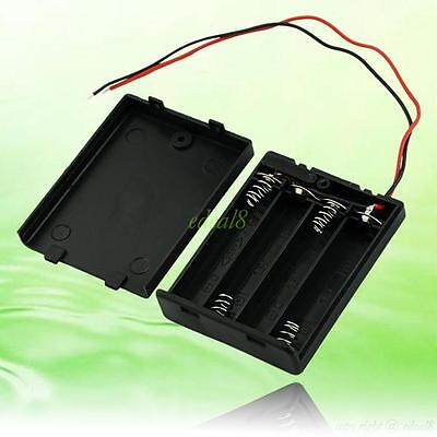 EE4070 4 AAA 3A Battery Holder Case Box With Switch Blk 2538379