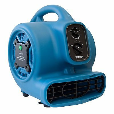 XPOWER P-260NT 1/5 HP Freshen Aire Mini Air Mover Dryer Fan w Ionizer & Timer