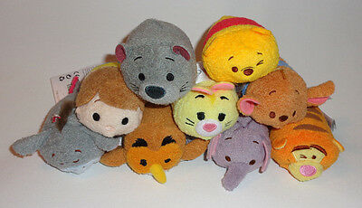 Winnie The Pooh Tsum Tsum  Complete Set Of 9 Disney Store New US Version