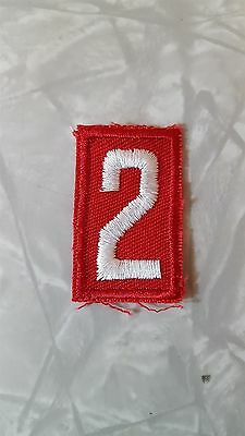 Boy Scouts BSA Number 2 Patch Red with White Embroidery