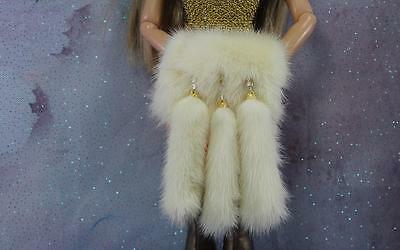 ~White Mink Fur Muff with Tails 4 Sybarites Sydney Tyler Gene doll~by dimitha~