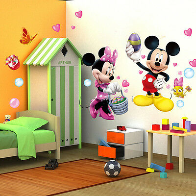 Mickey mouse minni amazing wall stick wall decals mural for Room decor 6d