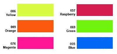 "15""x3ft Heat Transfer PU Vinyl fluorescent neon colors, easy weeding"