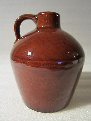 Rare Antique Roycroft Pottery Little Brown Glaze Jug Arts & Crafts 1905