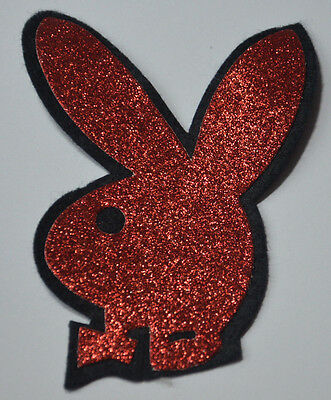 PLAYBOY BUNNY RABBIT PLUSH FLUFFY WOOLY FURRY Sew On Cloth Patch Badge APPLIQUE