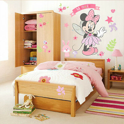 Minnie Mouse Removable Wall Decals Vinyl Sticker Nursery Mural Girls Room Decor