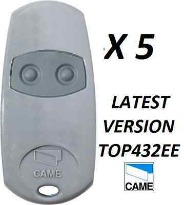 5 X Came Remote 2 Button Gate Remote Key Fob CAME TOP 432NA now CAME TOP432EE