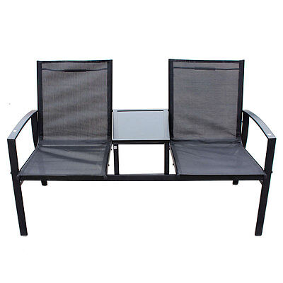 Outdoor Garden Furniture Siena 136cm Metal Companion Seat Jack U0026 Jill Love  Seat