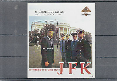 St Kitts 2013 MNH John F Kennedy 50th Memorial 1v SS II JFK US Presidents Stamps
