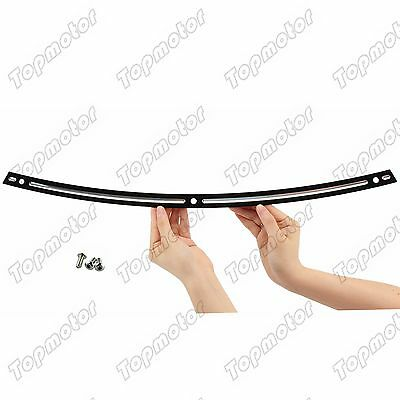 Black Deep Cut Beveled Windshield Trim For 1996-2013 Harley Ultra Limited FLHT