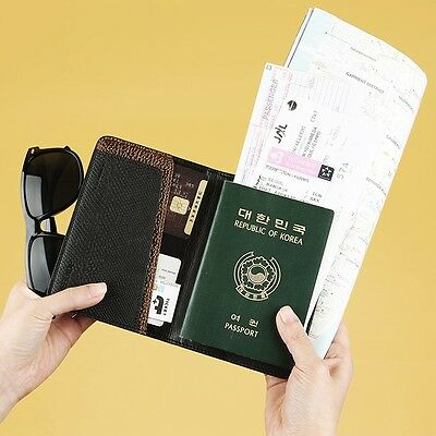 KOREA Leather WEEKADE  Passport Ticket ID Card Travel Wallet Case Holder Cover