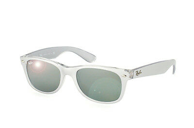 Ray-Ban RB2132 614440 Silver/Clear Frame Silver Mirror 55mm Lens Sunglasses