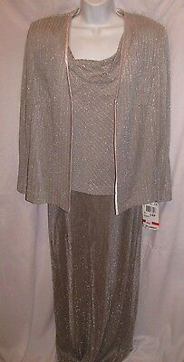R&m Richards Mother Of The Bride/groom Formal Dress With Jacket Sz 14P-Nwt's