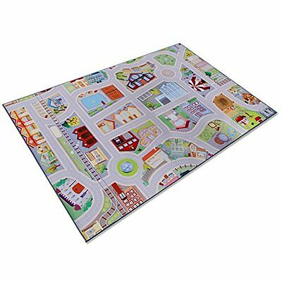 casa pura® Childrens Play Carpet, Road Mat - My Town | 2 Sizes Available 100 x