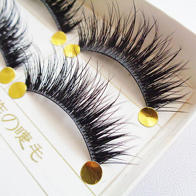 5 Pairs Natural Eye Lashes Makeup Cross Handmade Thick Fake False Eyelashes FN