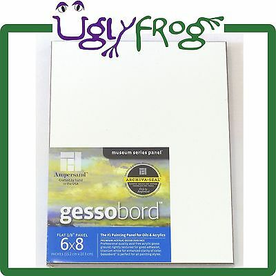 """Ampersand Gessobord 6"""" x 8"""" - (Pack of 3) - White Gessoboard"""