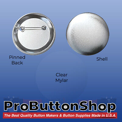 "2-1/4"" 2.25 inch Standard Size Tecre Complete Pin Back Button Parts - 500"