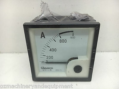 Camsco Panel Mount Ammeter 0-800A CT