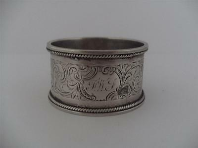 LOVELY SOLID SILVER NAPKIN RING Birmingham 1902