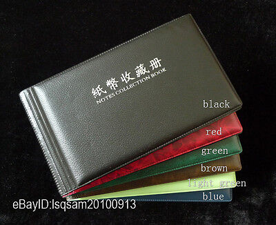 Paper Money Currency Banknotes Holder 20/40 Pockets Album (Rose Red Front Cover)