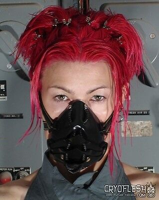 Cryoflesh Draconian Cyber Goth Industrial EDM Rave EMO UV Reactive Gas Mask