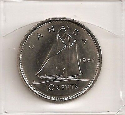 1969 Nickel Canada/Canadian 10 Cent Coin UNC FROM ORIGINAL ROLL