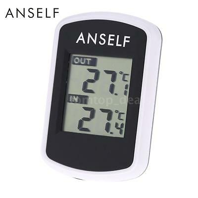 Wireless Digital LCD Temperature Ambient Tester Indoor Outdoor Thermometer Y1R6